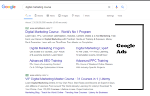 what is serp google ads